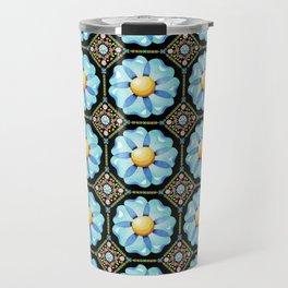 Blue Daisy Millefiori Travel Mug