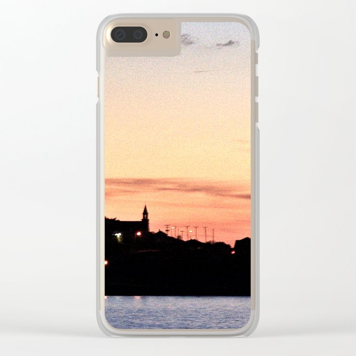 Lighthouse After Dark in La Martre Clear iPhone Case