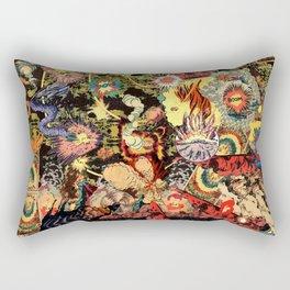 Chaos 2 Fire Rectangular Pillow