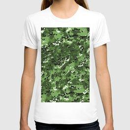 Harlequin Green Popular Multi Camo Pattern T-shirt