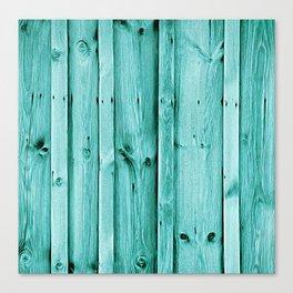 Blue Wood Texture Canvas Print