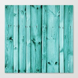 Blue Wood Texture Canvas Print