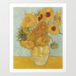 STILL LIFE: VASE WITH TWELVE SUNFLOWERS - VAN GOGH Kunstdrucke