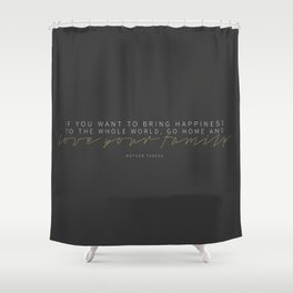 Love Your Family Shower Curtain