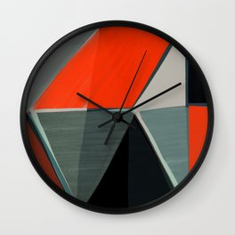 Red and Black Diamonds Wall Clock