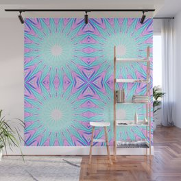 Pink & Blue Starlight Explosion Pastel Pattern Wall Mural