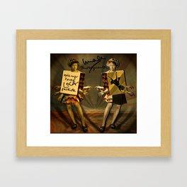 """Mala mujer"" Framed Art Print"