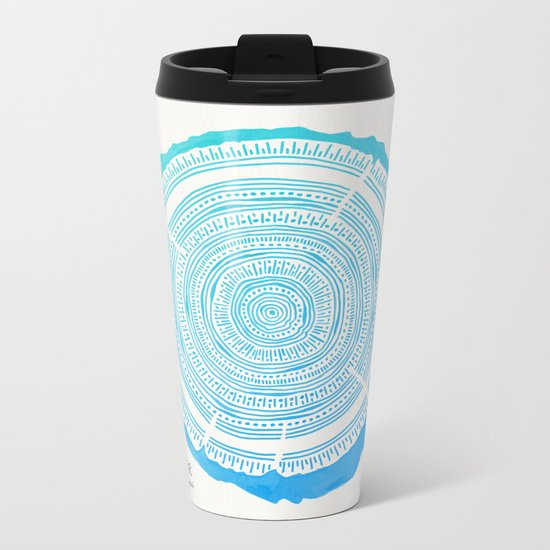 Douglas Fir – Blue Ombré Metal Travel Mug