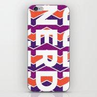 nerd iPhone & iPod Skins featuring NERD by Laura Stiner