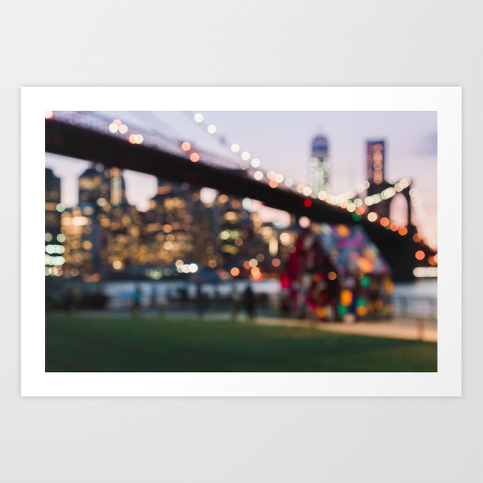New York City and a Summer Sunset Kunstdrucke