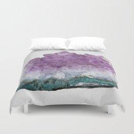 Watercolor Amethyst Duvet Cover