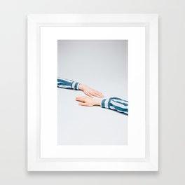 Striped Shirts Framed Art Print