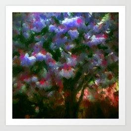 Purple Blossom Tree Art Print