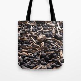 Yaquina Head Rocks and Driftwood Tote Bag