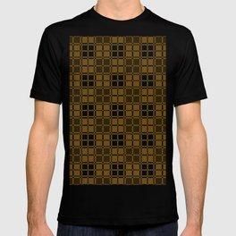 Brown and White Gingham Checkered Plaid Print T-shirt
