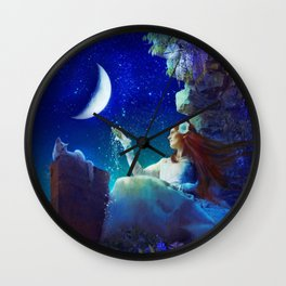 Conversation With The Moon Wall Clock