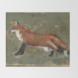 Stretching Fox Throw Blanket