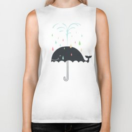 Happy Rainy Day Biker Tank