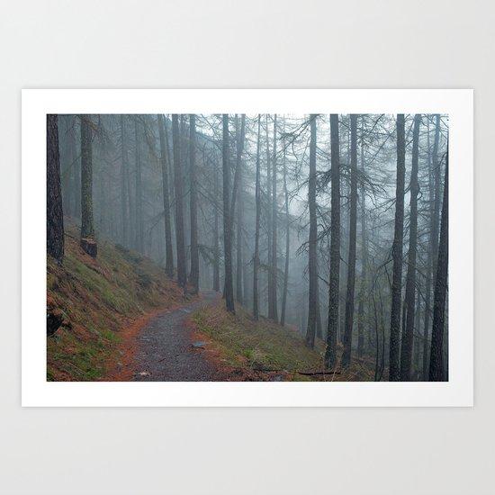 Forest vibes #foggy Art Print