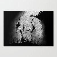 the hound Canvas Prints featuring Hound by hardy mayes