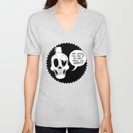 Fez Skull Unisex V-Neck