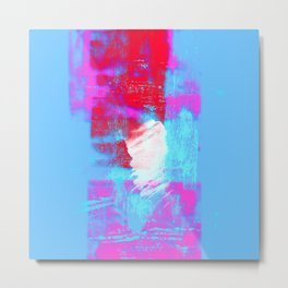 abstract blue pink Metal Print