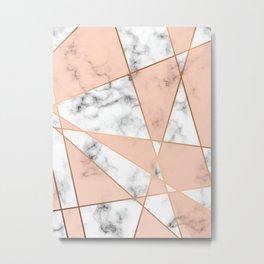 Marble Geometry 050 Metal Print