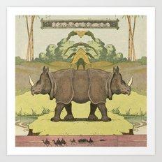 Rhino^2 Art Print