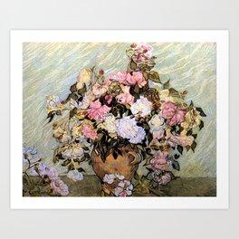 Vincent Van Gogh Vase With Roses Art Print