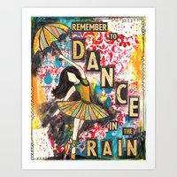 remember to dance Art Print
