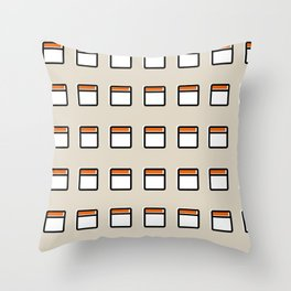 Torre América -Detail- Throw Pillow