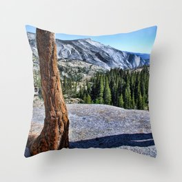 Yosemite park Throw Pillow