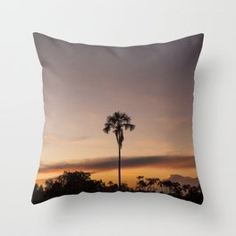 Lonely Palm Tree Throw Pillow