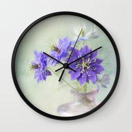Love in a Mist Wall Clock