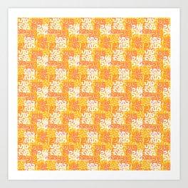 Swanky Mo Citrus Art Print