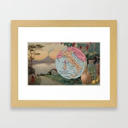 Vintage Map of Italy with Illustrations (1890) Framed Art Print