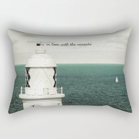 Seaside Lighthouse Rectangular Pillow