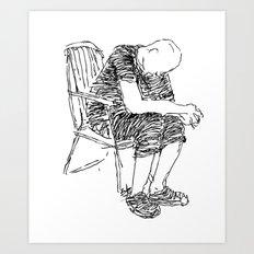 The Sitter Art Print