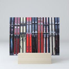 Skis with Bindings Mini Art Print