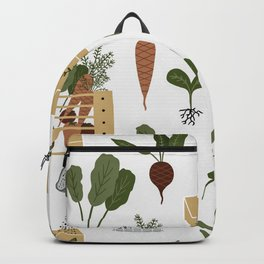 Gardening Plants and Tools Backpack