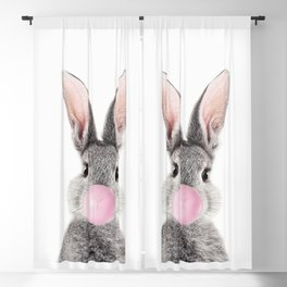 Bunny With Bubble Gum Blackout Curtain