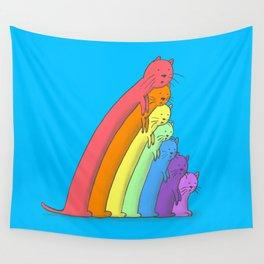 Rainbow Cats Wall Tapestry