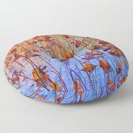 Dead Lotus Flower Floor Pillow
