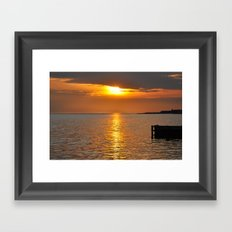 Sundown on the Bay Framed Art Print
