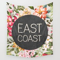 tupac Wall Tapestries featuring East Coast by Text Guy