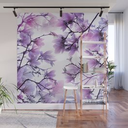 Magnolia purple 074 Wall Mural