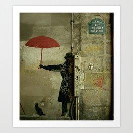 Rue du Chat Qui Peche Art Print
