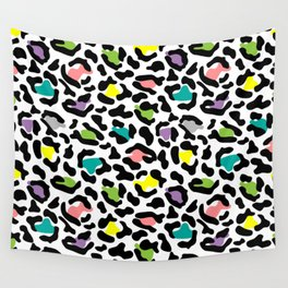 Stylize colorful leopard spots pattern Wall Tapestry