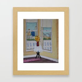 Room with a View of the Memphis Bridge Framed Art Print