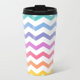 Rainbow Chevron Travel Mug
